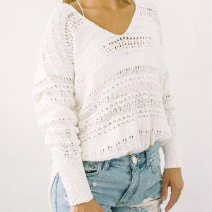 Free People Hot Tropics sheer sweater white s
